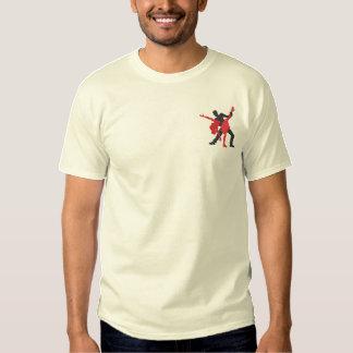 Salsa Dancers Embroidered T-Shirt