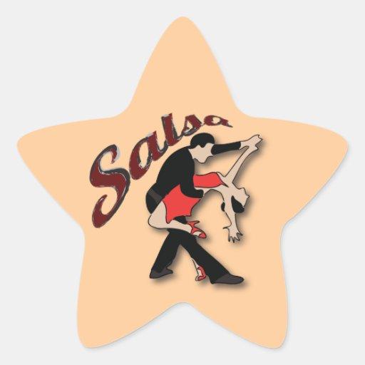 Salsa Dancers Star Stickers