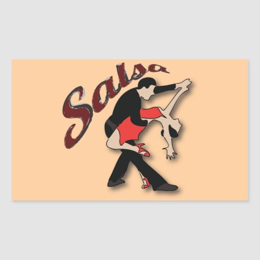 Salsa Dancers Rectangle Stickers