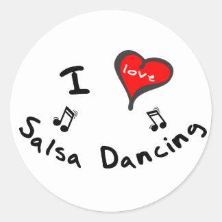 Salsa Dancing Gifts - I Heart Salsa Dancing Round Stickers