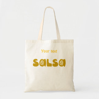 Salsa Dancing Gold Swirls Customisable Bags