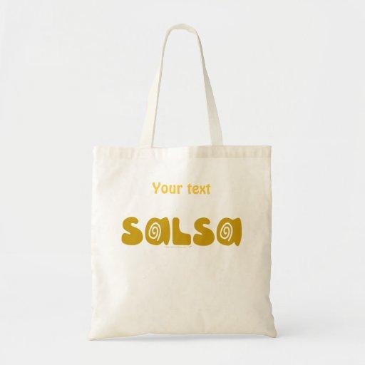 Salsa Dancing Gold Swirls Customizable Bags