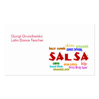 Salsa Dancing Latin Dance Teacher or Dancer Pack Of Standard Business Cards