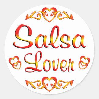 Salsa Dancing Lover. Round Sticker