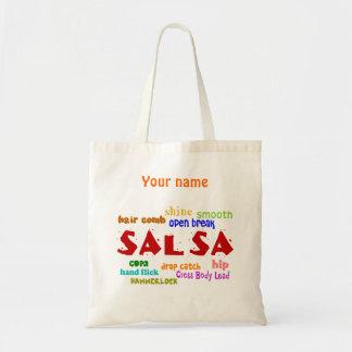 Salsa Dancing Lovers Dance Custom Name Reusable