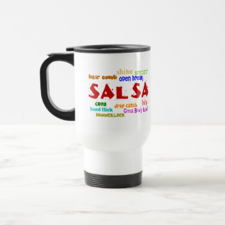 Salsa Dancing Mug for Dancers Word Cloud