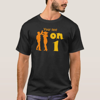 Salsa Dancing On One Silhouettes Customizable T-Shirt