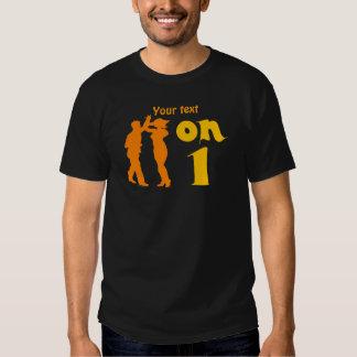 Salsa Dancing On One Silhouettes Customizable Tee Shirt