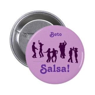 Salsa Dancing Poses Silhouettes Custom 6 Cm Round Badge