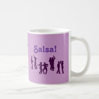 Salsa Dancing Poses Silhouettes Custom Basic White Mug