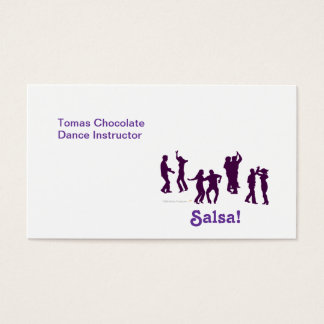Salsa Dancing Poses Silhouettes Custom Business Card