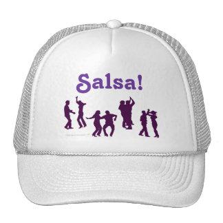 Salsa Dancing Poses Silhouettes Custom Cap