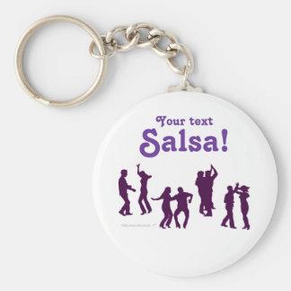 Salsa Dancing Poses Silhouettes Custom Key Ring