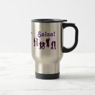 Salsa Dancing Poses Silhouettes Custom Stainless Steel Travel Mug