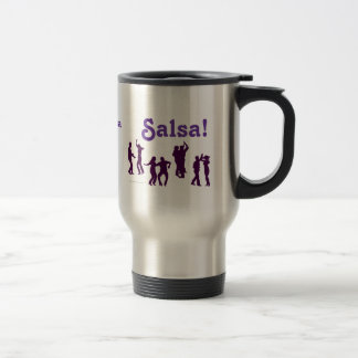 Salsa Dancing Poses Silhouettes Custom Travel Mug