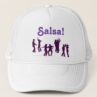 Salsa Dancing Poses Silhouettes Custom Trucker Hat