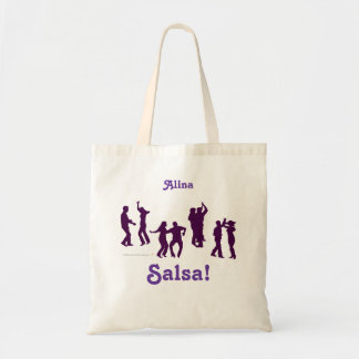 Salsa Dancing Poses Silhouettes Personalized Tote