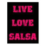 Salsa dancing post card