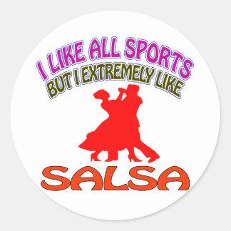 Salsa designs round sticker