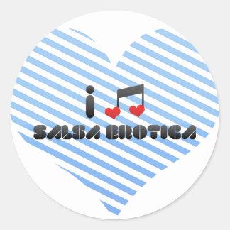 Salsa Erotica Round Stickers