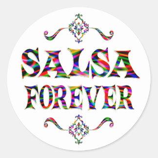 Salsa Forever Round Stickers
