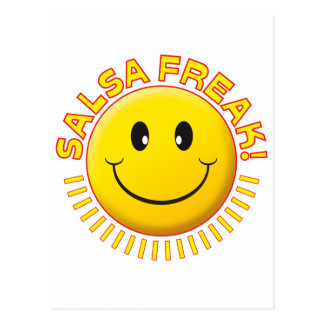 Salsa Freak Smile Postcard