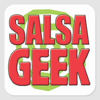 Salsa Geek Square Stickers