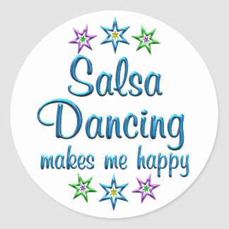 Salsa Happy Round Sticker