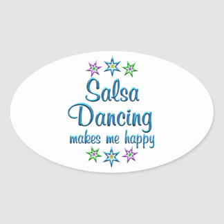 Salsa Happy Oval Sticker