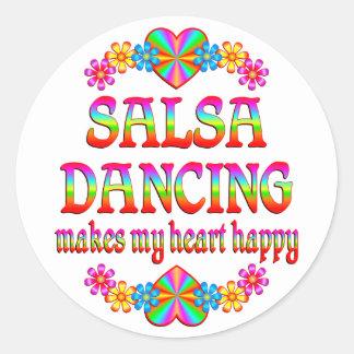 Salsa Heart Happy Stickers
