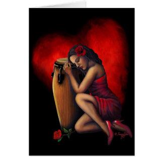 Salsa Heartbeat Greeting Card