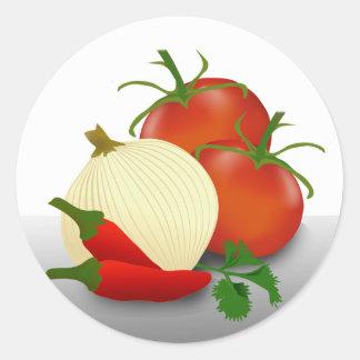 Salsa Ingredients Canning Label Sticker