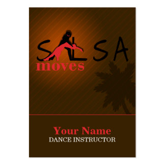 Salsa Moves - Business-, Schedule Card Pack Of Chubby Business Cards