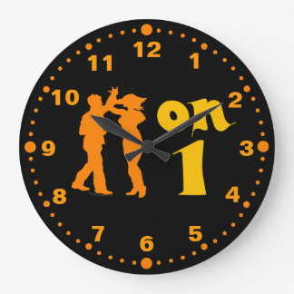 Salsa on One Dance Spin Wall Clock With Minutes