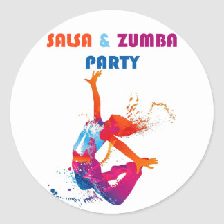 Salsa Party Round Stickers