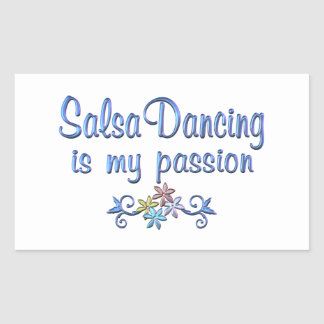 Salsa Passion Rectangle Stickers