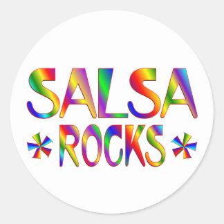 Salsa Rocks Round Sticker