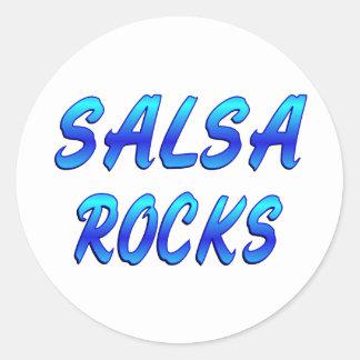 SALSA ROCKS ROUND STICKERS