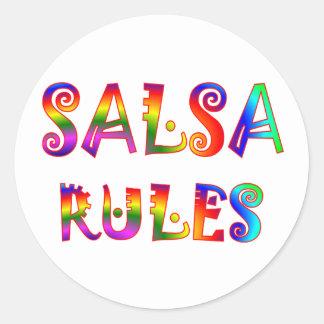 Salsa Rules Round Sticker