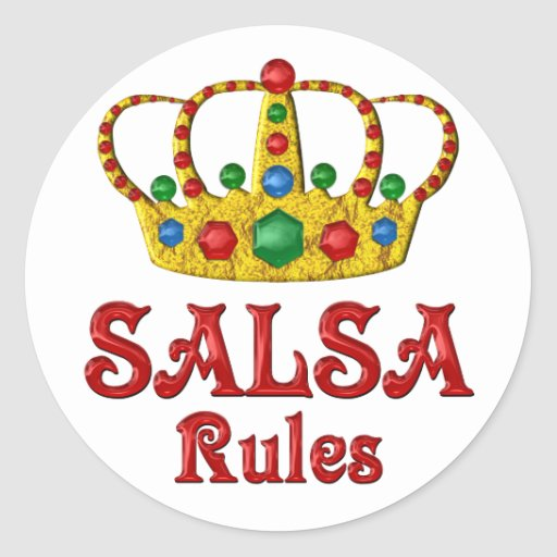 SALSA RULES STICKER