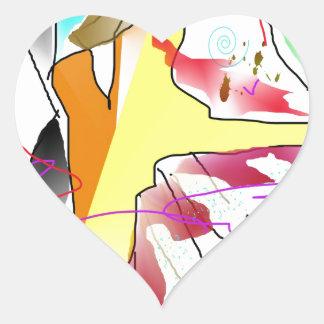 salsa heart sticker