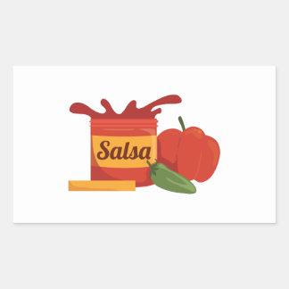 Salsa Rectangular Sticker