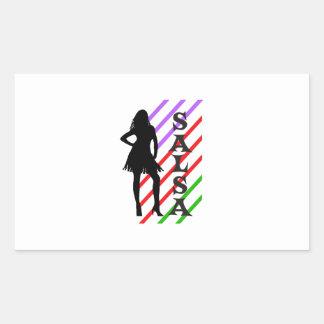 Salsa Rectangle Sticker