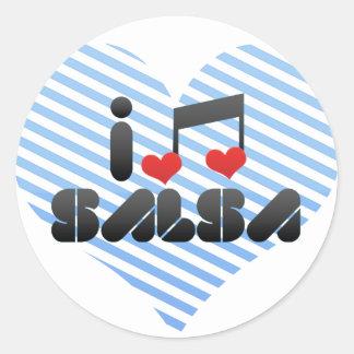 Salsa Round Sticker