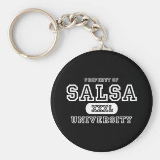 Salsa University Dark Basic Round Button Key Ring