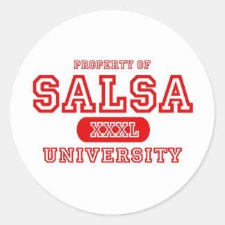 Salsa University Round Sticker