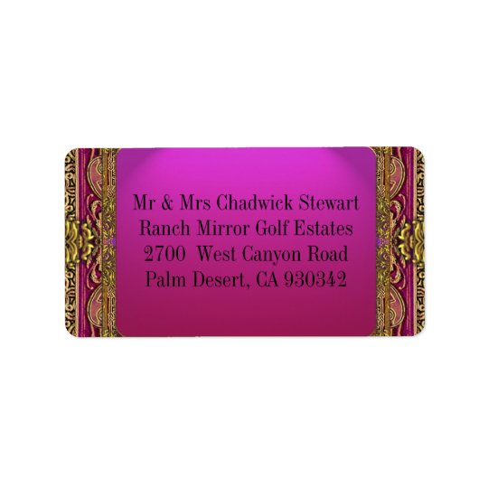 Salsbury Royale Address Label