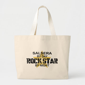 Salsera by Day, Rock Star by Night Canvas Bags