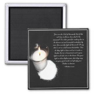 Salt and Light Scripture Square Magnet