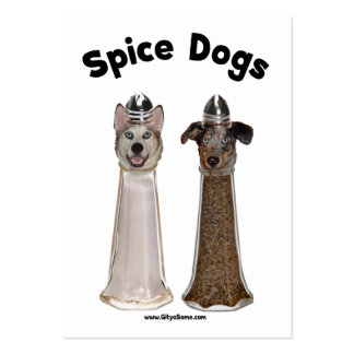 Salt and Pepper Spice Dogs Business Cards